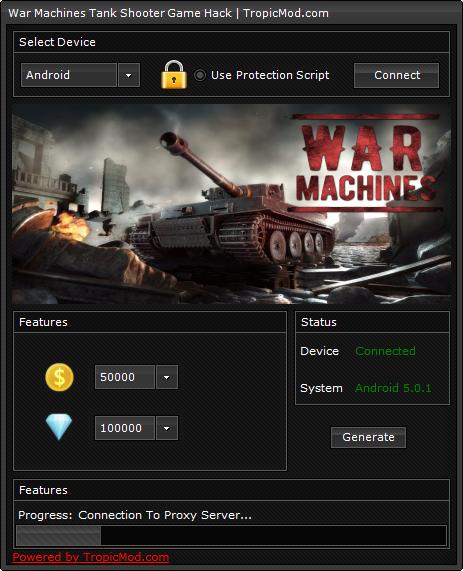 War Machines Tank Shooter Game Hack Cheat Generate