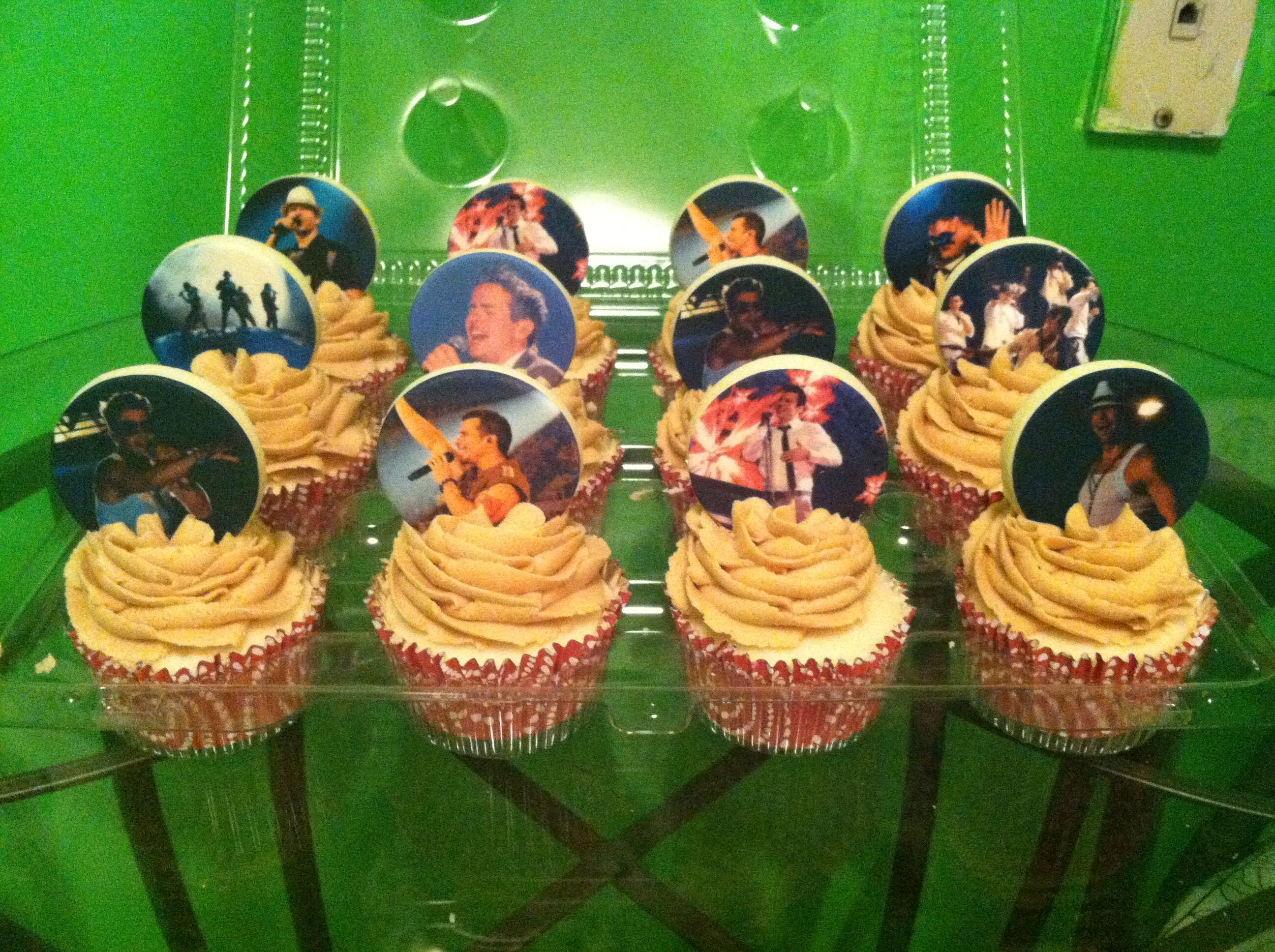 NKOTB New Kids on the Block cupcakes Edible image toppers on peanut