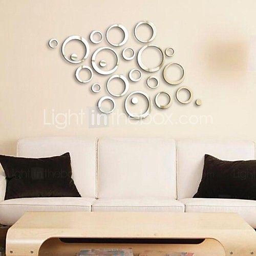 Specchi adesivi murali adesivi a parete specchio adesivi decorativi da parete vinile materiale - Specchi adesivi da parete ...