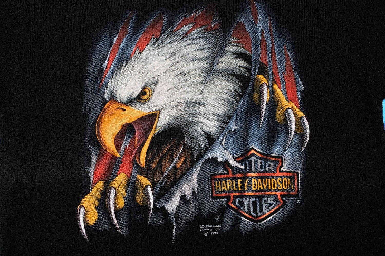 Harleydavidson slashing eagle tshirt 3d by