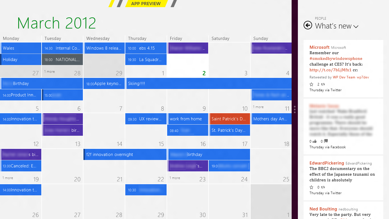 Full screen Metro Calendar app | Data Visualization | Pinterest ...