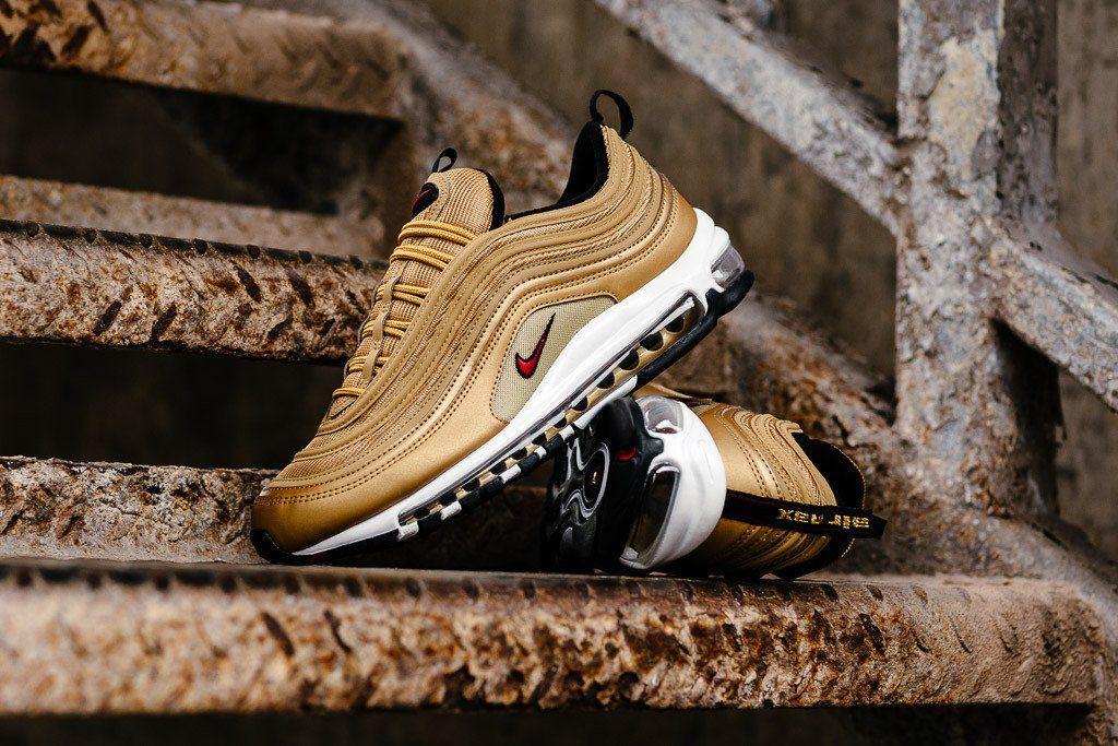Nike Air Max 97 Og Qs 884421 700 Metallic Gold New Arrival Solecollector Dailysole Kicksonfire Nicekicks K Nike Air Max 97 Nike Air Max Womens Sneakers