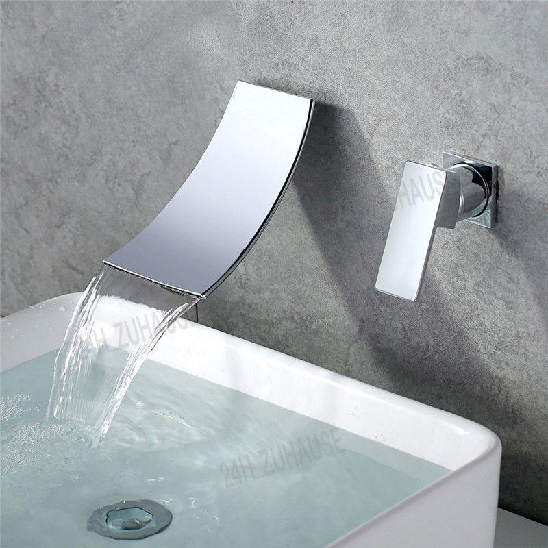 Neu Unterputz Badzimmer Wasserhahn Wasserbecken Armatur Mischbatterie Wasserfall Wasserhahn Wasserhahn Bad Mischbatterien