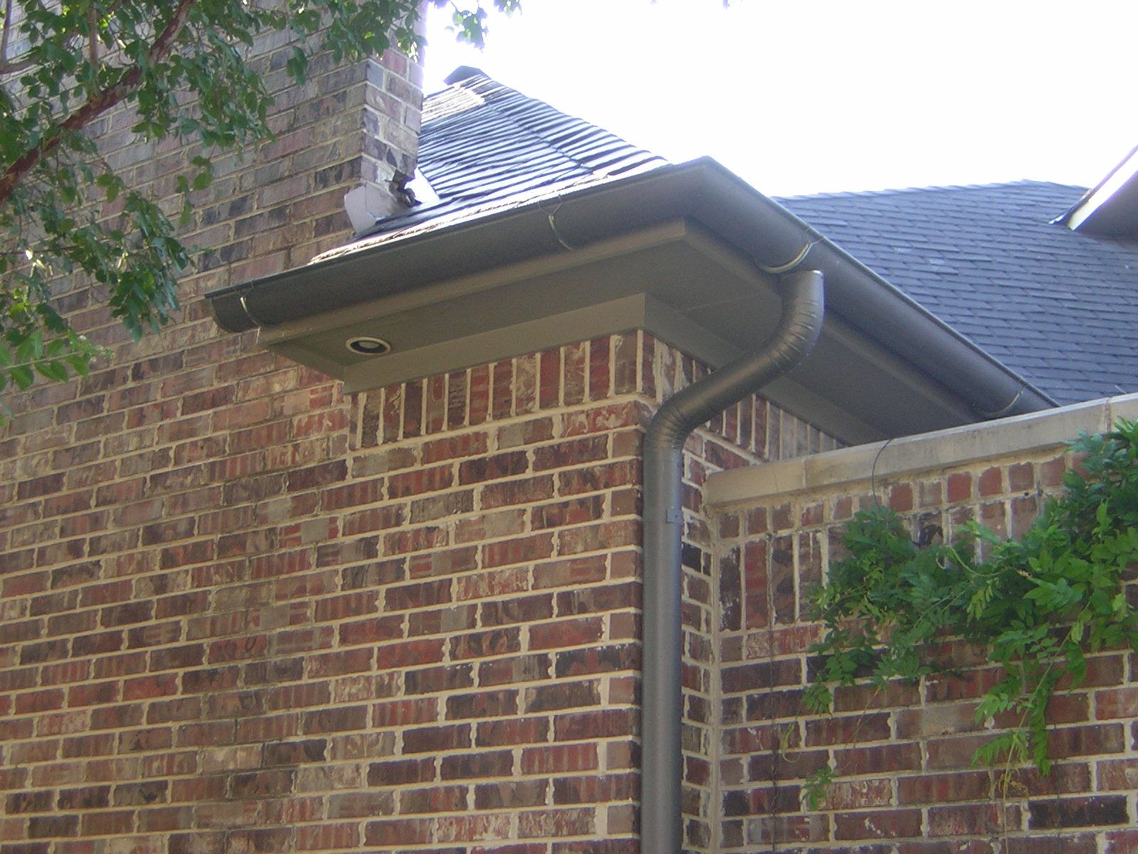 Dark Bronze Gutters Google Search Gutters House Exterior How To Install Gutters