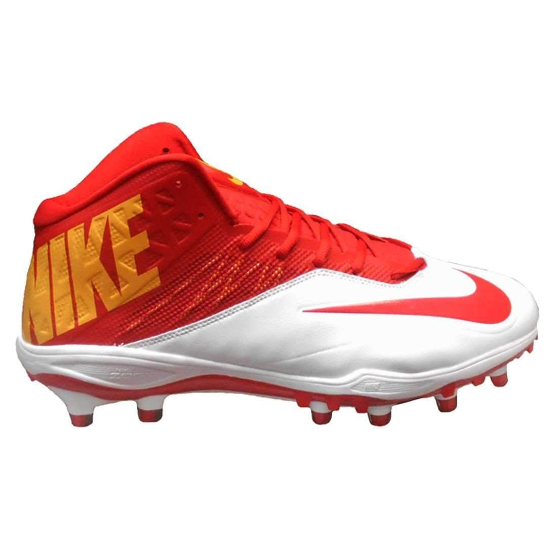 b2d35065165 white nike low top football cleats lebron james strap shoes ...
