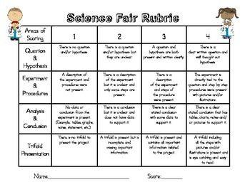 Science Fair Project Rubric Science Fair Rubric