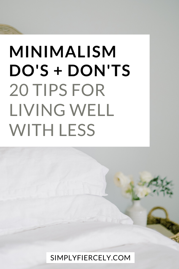 Are you thinking about embracing minimalism? Do you want to live well with less? If so, then this list of minimalism