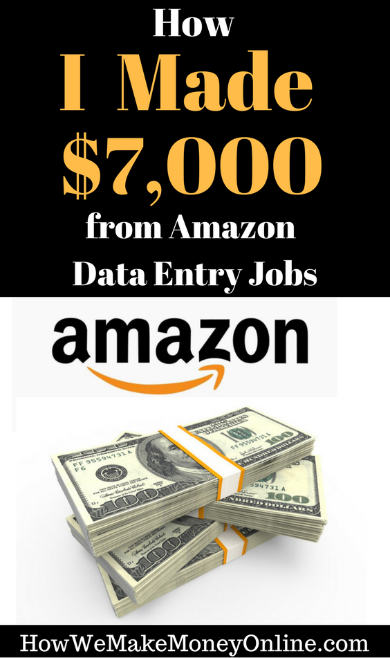 How I Made $7,000 from Amazon Data Entry Jobs from Home! | Data entry jobs, Make  money from home, Way to make money