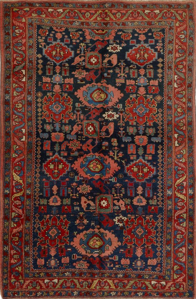 Matt Camron Rugs Tapestries Antique Collection Persian Bijar Rug 08434ha