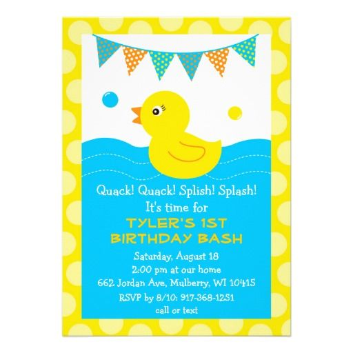 Rubber ducky 1st birthday card rubber duck birthday rubber duck rubber ducky 1st birthday card filmwisefo Image collections