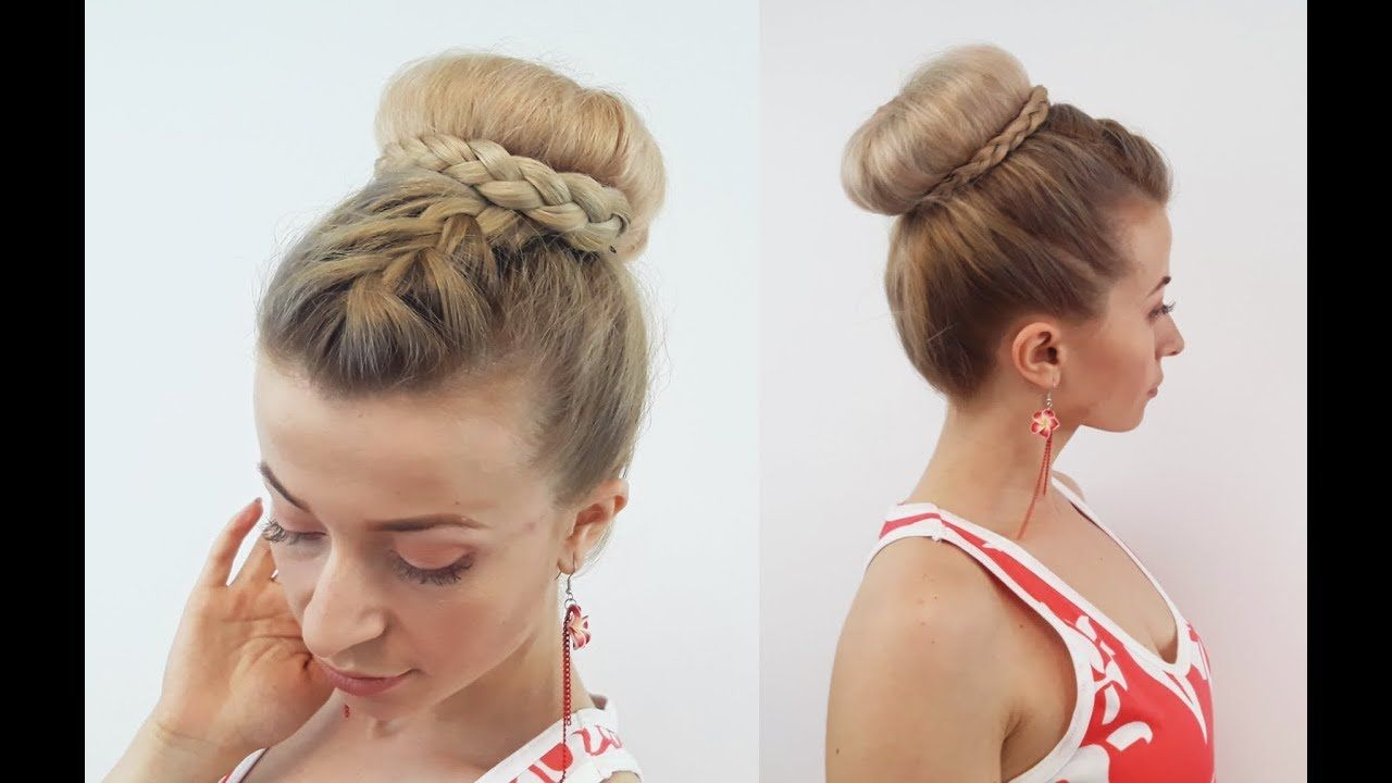 Easy hairstyle cute braided bun updo awesome hairstyles new