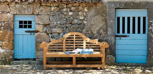 banc de jardin classique (teck) LUTY Unopiu | - Extérieur ...