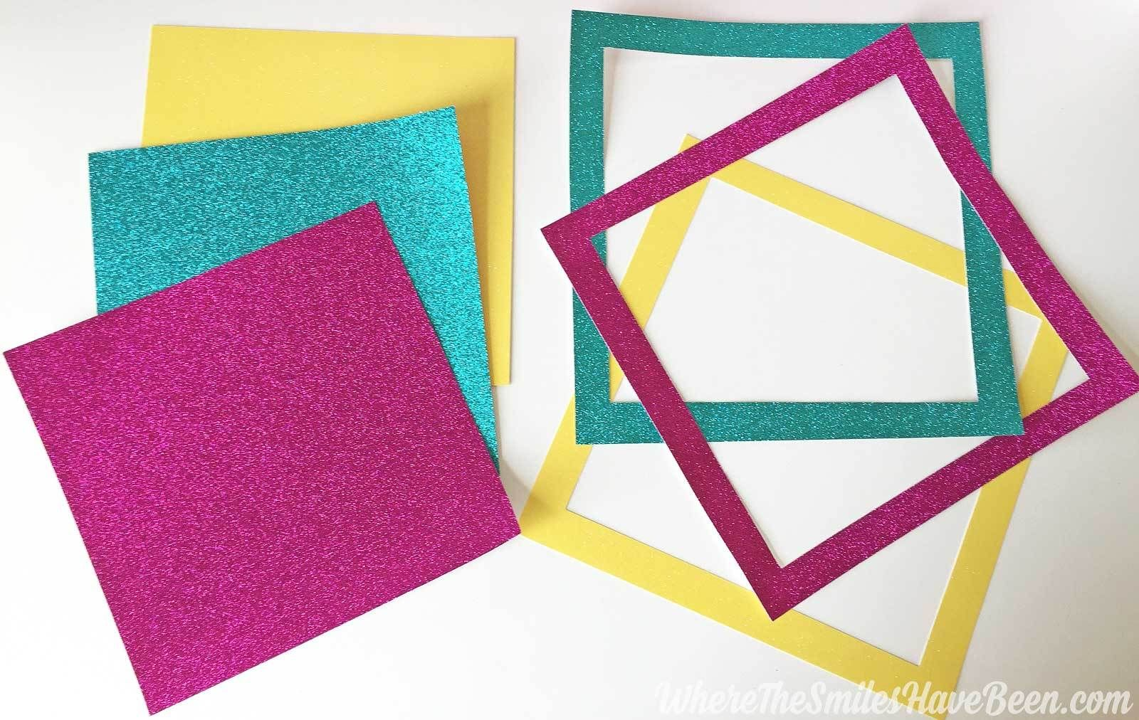 Easy Inexpensive Diy Picture Frame Mats From Glitter Cardstock Frame Matting Diy Picture Frame Mat Diy Picture Frames