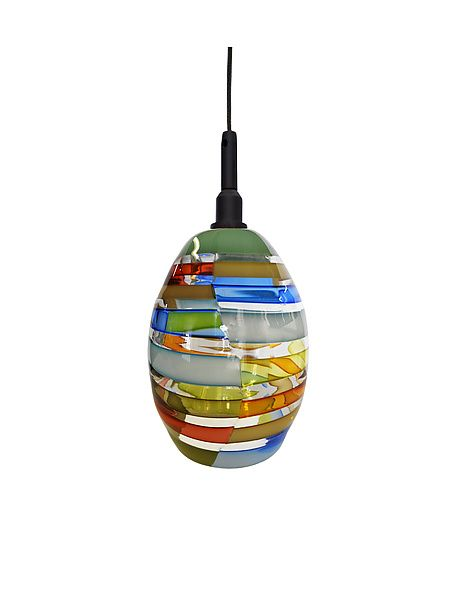 Monopoint Pendant Custom Licorice Stick Tracy Glover Art Gl Ceiling Lamp Studio Artful Home