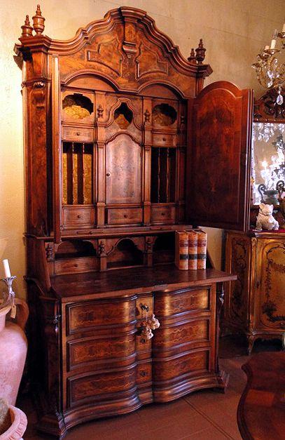 Italian Old World Reproduction of A 18th Century Trumeau | eBay