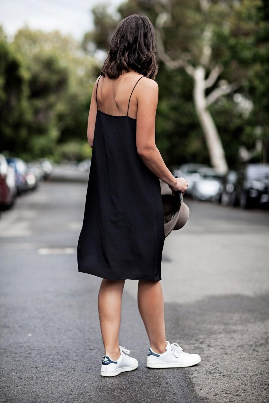 30 Ways To Wear Your Go To Black Dress All Summer Slip Dress Street Style Street Style Dress Fashion [ 1350 x 900 Pixel ]