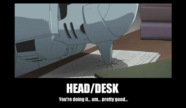 Head Desk By Animelover0831 Deviantart Com On Deviantart Headed Fullmetal Alchemist Brotherhood Fullmetal Alchemist