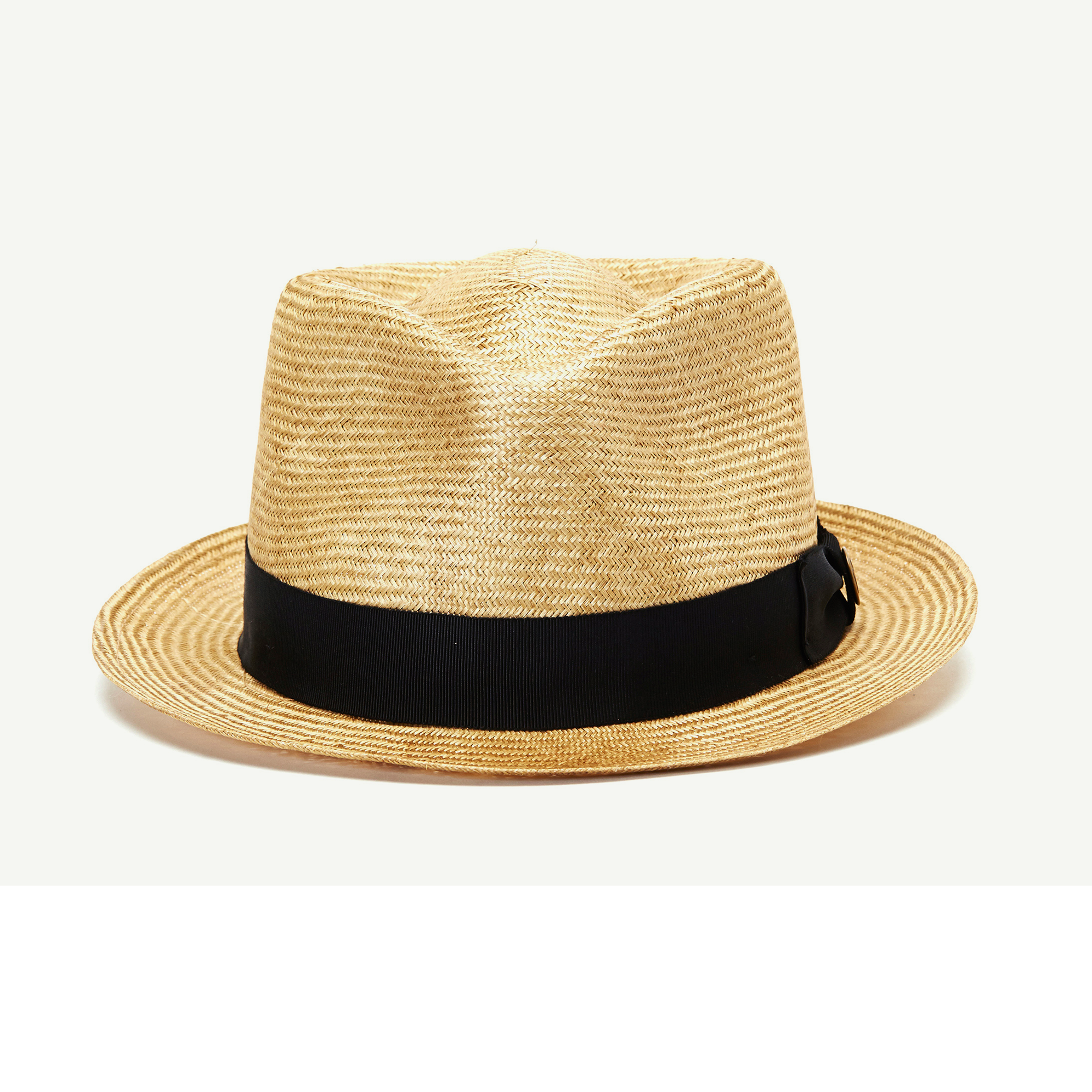 266208401 Tad Stanton Camel Straw Stingy Brim Fedora hat front view | Hat's in ...