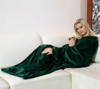 Snuggle Decke Mit ärmeln.Die Grune Kuscheldecke Mit Armeln Konnen Sie Uberall Wie Einen