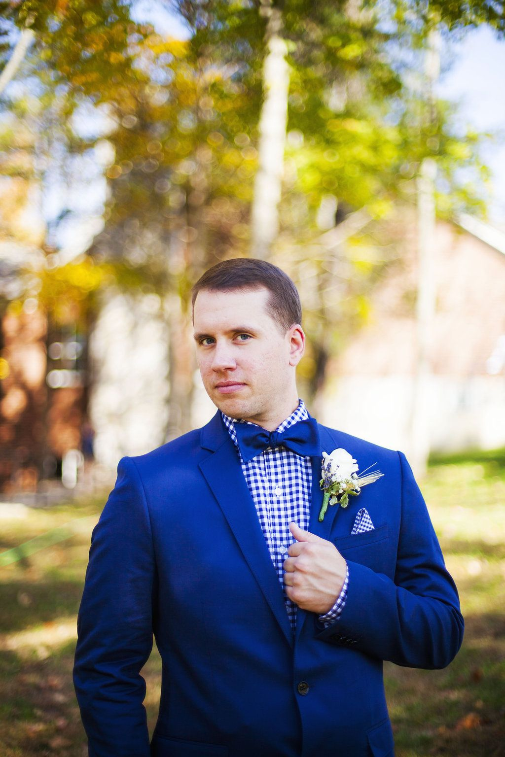 Fall Favorites Wedding | Royal blue suit, Wedding and Weddings