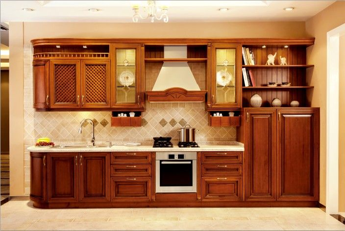 Wood Kitchen Cabinets | American Maple Solid Wood Kitchen Cabinets ...