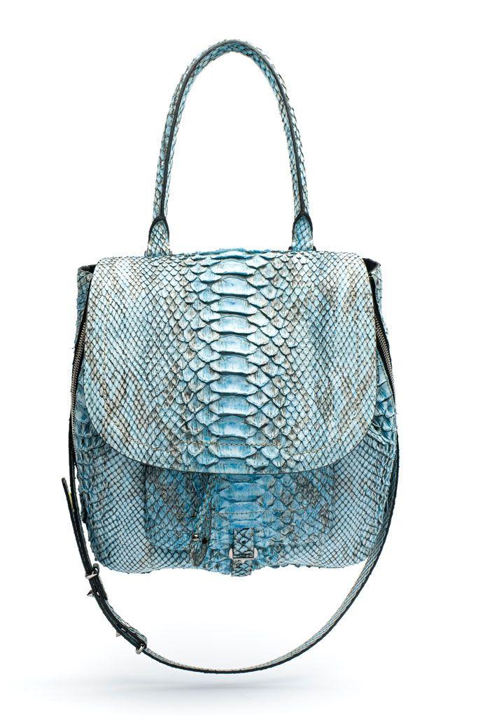 spring 2014, barbara bui, bags, exotic skins, blue, exotic skins