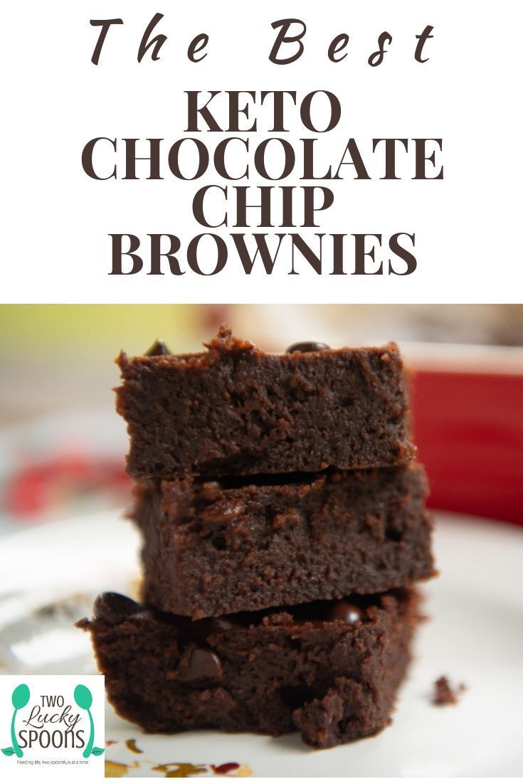 The Best Chocolate Chip Keto Brownies Fudgy, chocolatey, sweet and soft – these are the BEST keto