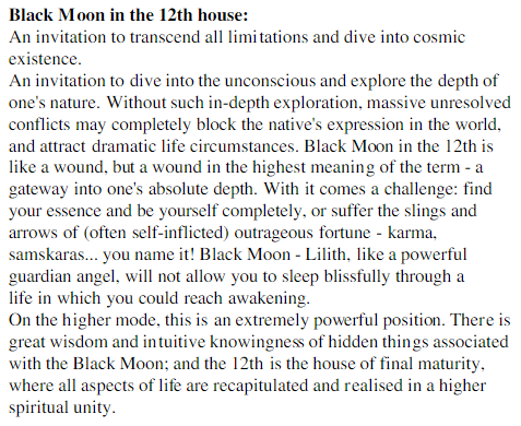 Black Moon Lilith in the 12th house | Quotes | Black moon lilith