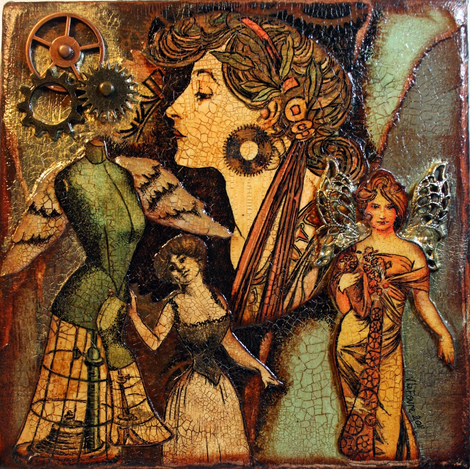 Three Muses Challenge from Victoria's Art Visions