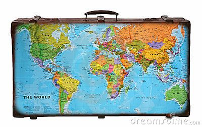 Travel suitcase with world map by apho via dreamstime maps travel suitcase with world map by apho via dreamstime gumiabroncs Image collections