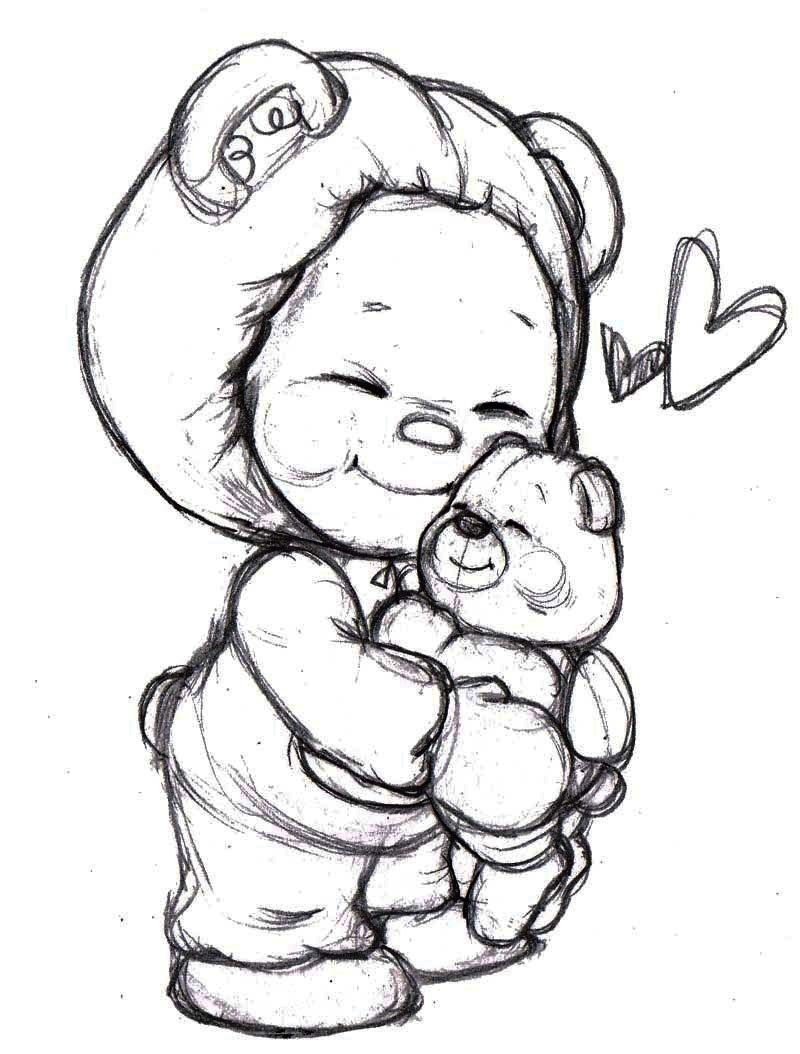 Cute bear childs wonder coloring pages teddy bear hug color