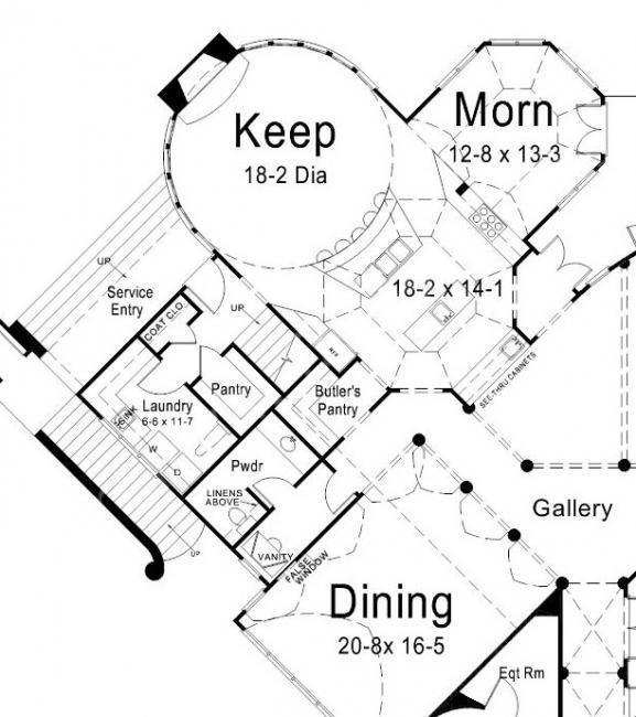 Chateau novella house plan first floor the floor plans for Chateau novella