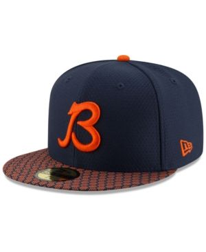 New Era Boys  Chicago Bears Sideline 59FIFTY Fitted Cap - Navy Orange 6 3 4 d4a03310b17