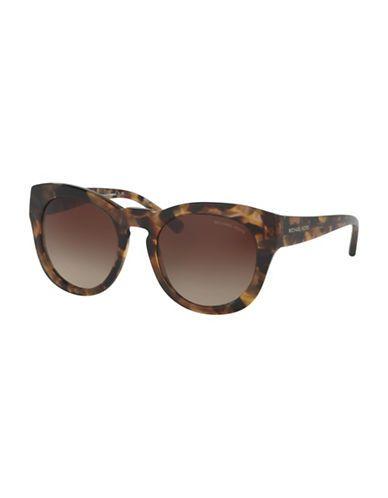 0a874aa5f5 Michael Kors 50MM Summer Breeze Round Sunglasses Women s Brown ...