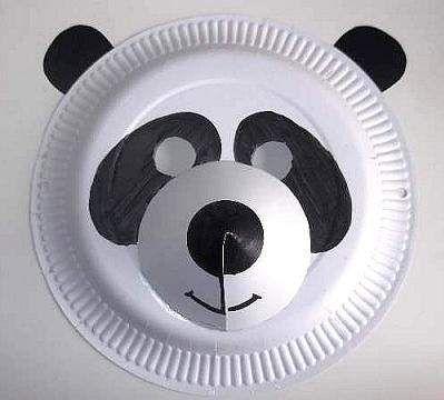 paper plate panda mask & paper plate panda mask | Arts Visuels | Pinterest | Paper plate ...