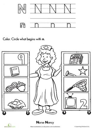 The Letter N Worksheets, Phonics and Kindergarten