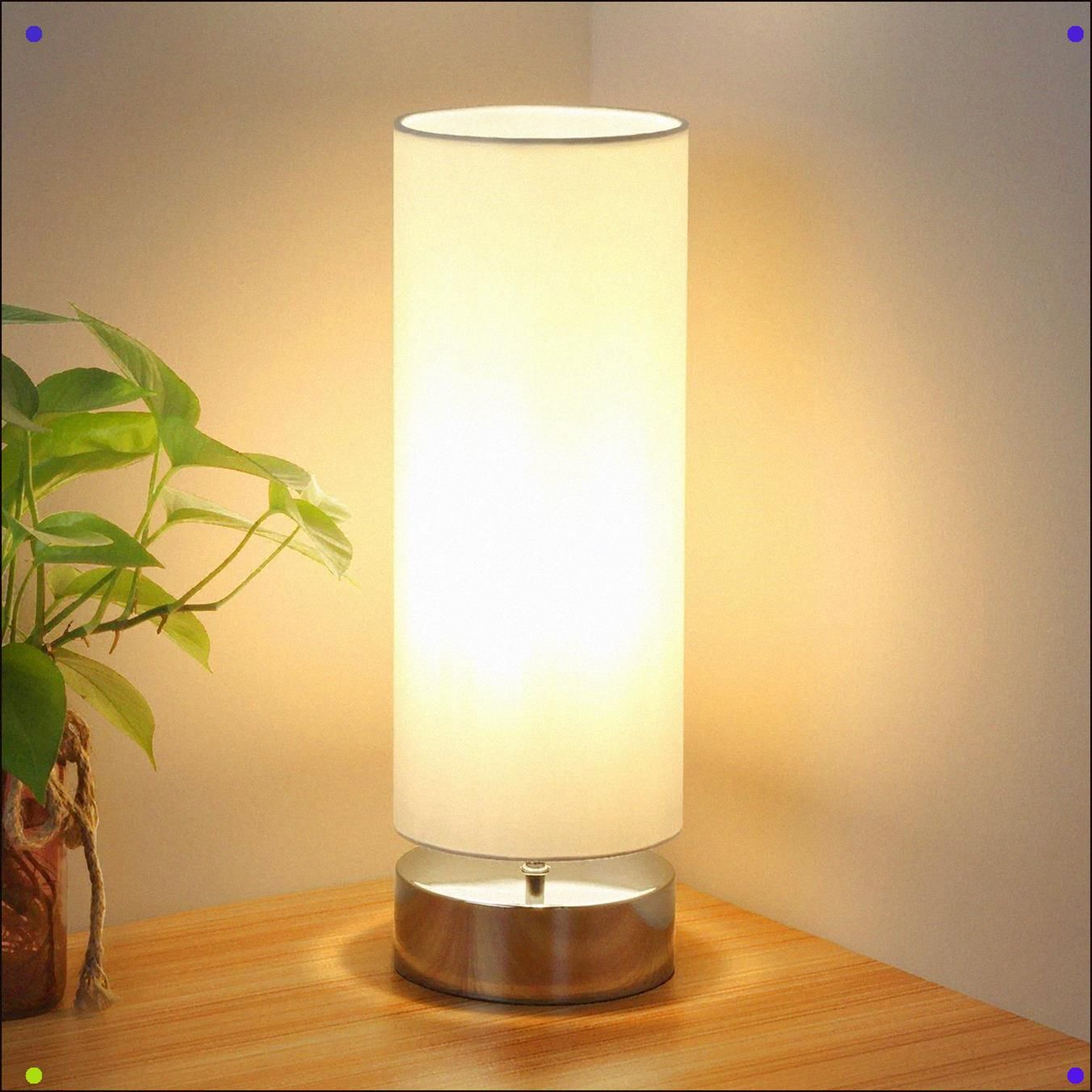 Dimmable Touch Light With Cylinder Lamp Shade Night Light Nightstand Lamp Home Office Light Desk Des In 2020 Modern Desk Lamp Bedside Table Lamps Touch Table Lamps