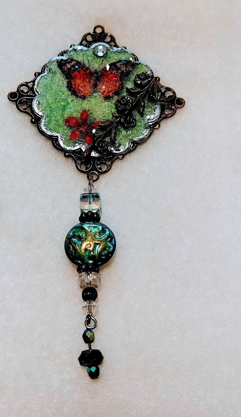 Gorgeous ornament made from old greeting card refunction crafts gorgeous ornament made from old greeting card kristyandbryce Images
