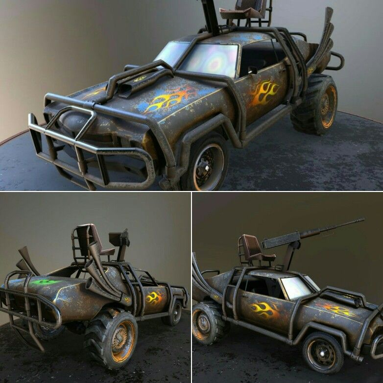 Great madmax style car model can be purchased here https