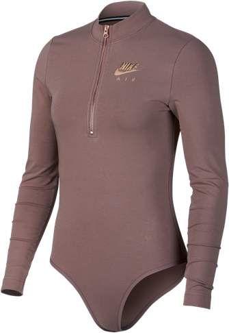 ea056db573 Nike Rose Gold Metallic Air L S Bodysuit - Women s