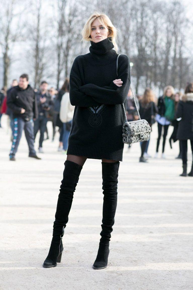 Kombin Mevsimlik En Guzel Kadin Kiyafet Kombinleri Uzun Cizme Moda Stilleri Tarz Moda