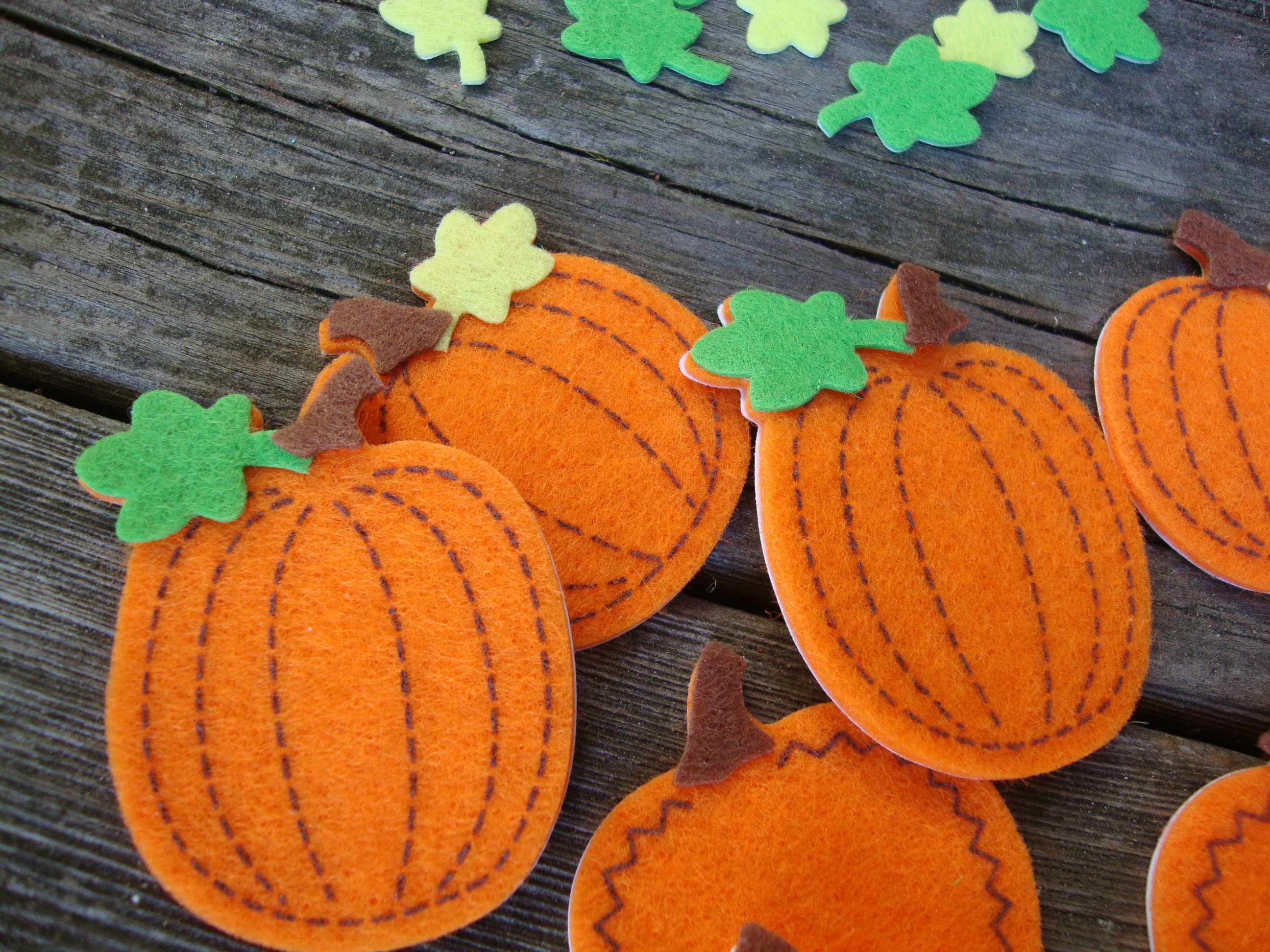 Felt Fabric Pumpkin Stickers This Listing Is For 24 Pieces Of