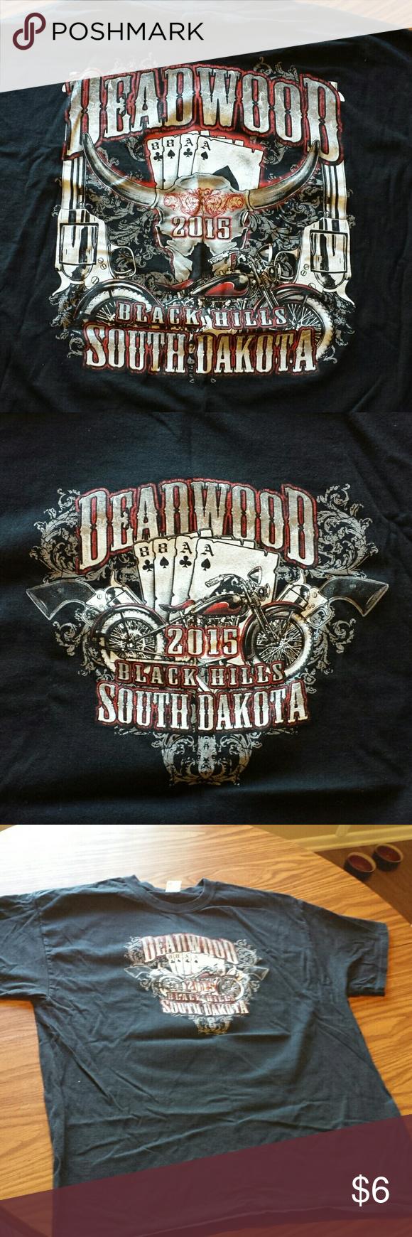 2015 Deadwood South Dakota Men S Size Xl T Shirt South Dakota Shirt Black Hills South Dakota Black Cotton [ 1740 x 580 Pixel ]