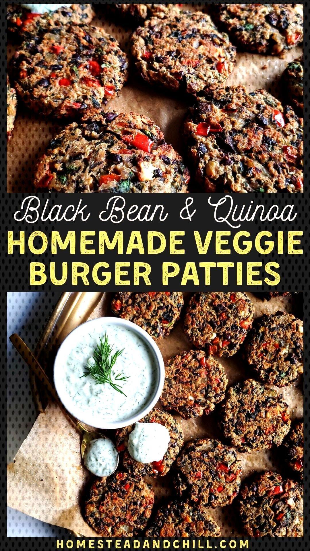 Black Bean amp Quinoa Homemade Veggie Burger Patties ~ Homestead and Chill - Black Bean amp Quinoa Hom