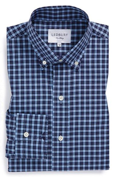Ledbury 'Hackett' Slim Fit Check Dress Shirt available at #Nordstrom