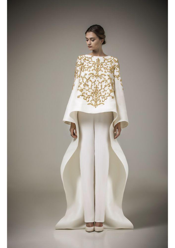 e07fae66b0d Mohamed Ashi  bridal  bride  novia Gold Embroidery