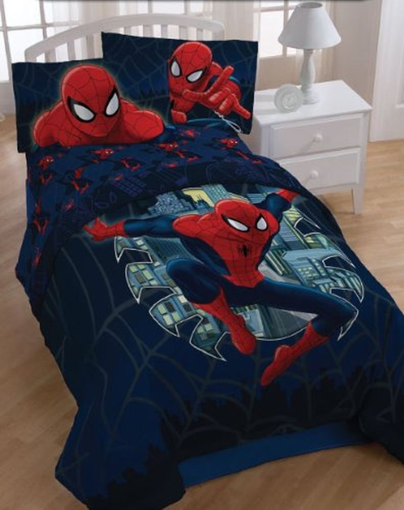 Spiderman and friends bedding - Marvel Spiderman Microfiber 3piece Twin Sheet Set