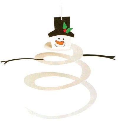 spiral snowman - good for practical life/ scissor work area