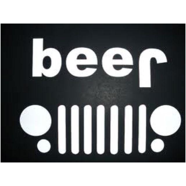 Jeep Upside Down Beer