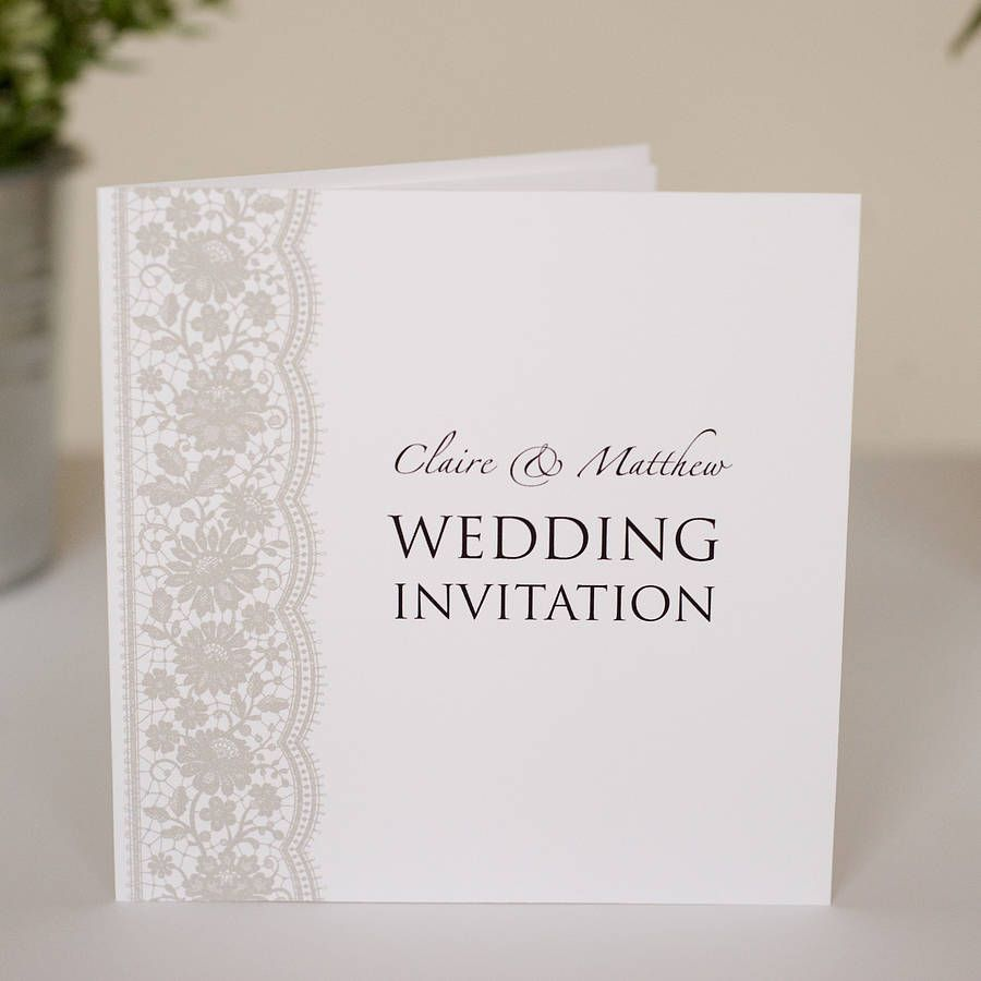 Personalised Lace Wedding Invitations | Lace weddings, Weddings and ...